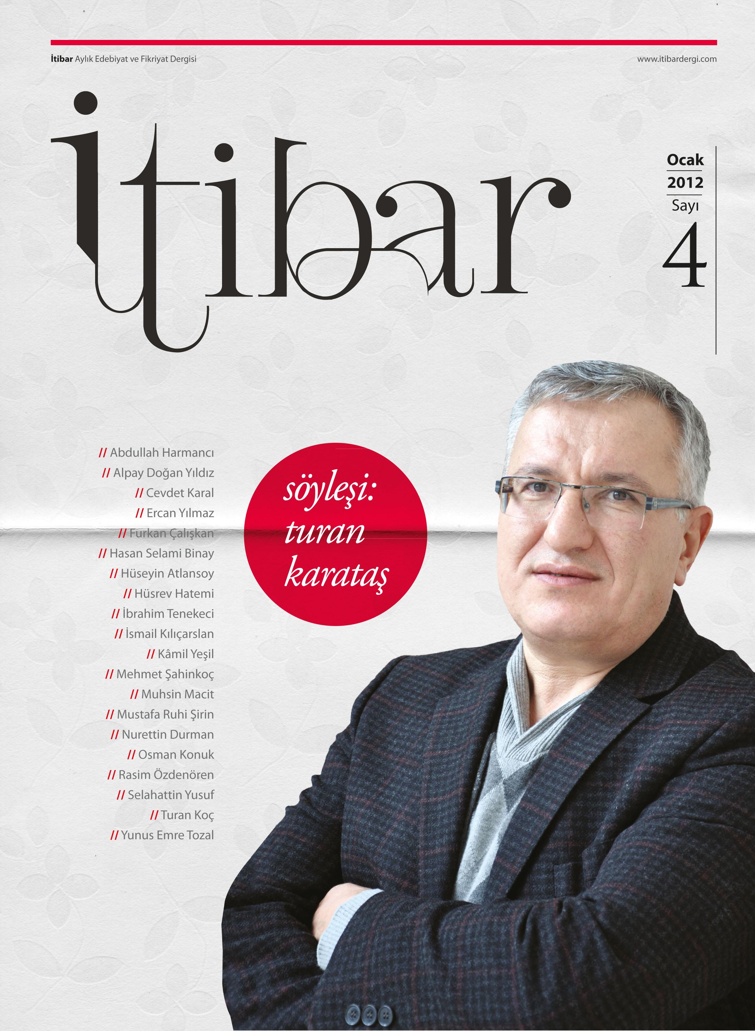 İTİBAR'IN OCAK 2012 SAYISI ÇIKTI