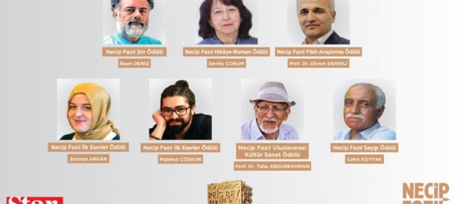 Necip Fazıl Ödülleri'nin 2020 yılı kazananları açıklandı.